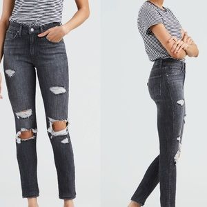 New Levi's 721 high rise skinny destroyed jeans 26